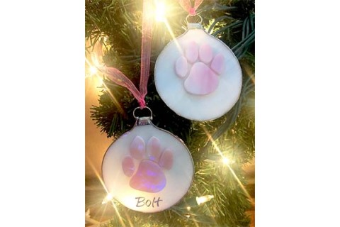Pink Paw Ornament-01