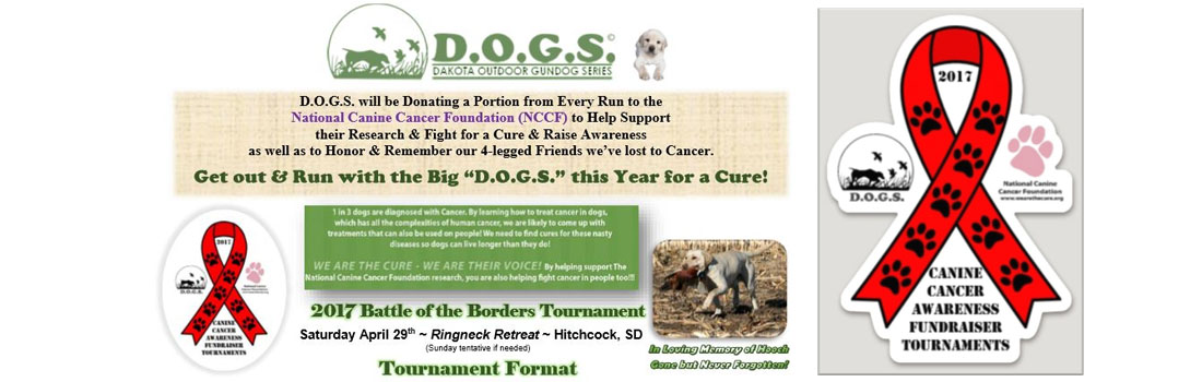 D.O.G.S. Birddog Hunting Series raises Donations & Awareness for NCCF