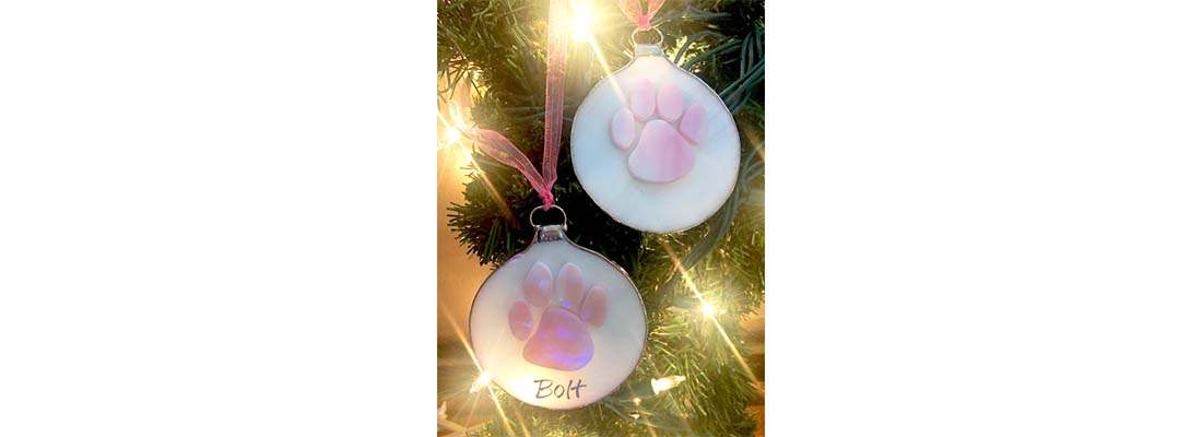 Handmade Pink Paw Ornament – Limited Edition