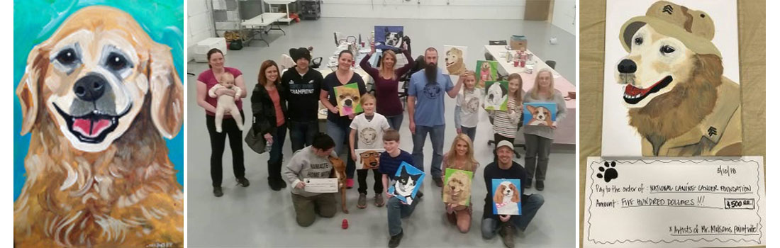 """""""Paint Your Pet"""" event raised fund in Mister Molsan's name to Fight Canine Cancer"""
